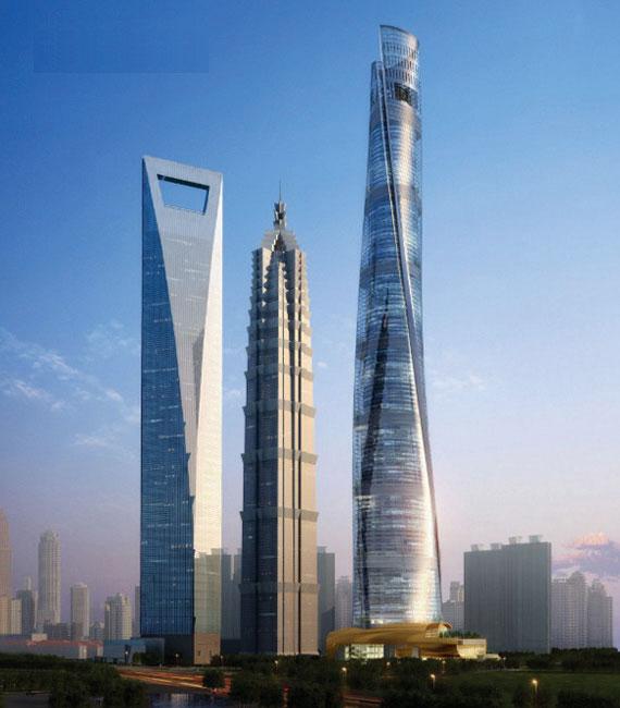 作为中国金融中心的上海,计划到2020年基本建成与中国经济实力以及人民币国际地位相适应的国际金融中心,而与香港、东京等金融城相比,上海目前的金融办公容量仍有差距。集24小时甲级办公、超五星级酒店和配套设施、主题精品商业、观光和文化休闲娱乐、特色会议设施五大功能于一体的上海中心大厦的出现,必将大大提升上海的金融办公水平,同时,作为中国的第一高楼,它建成后将与金茂大厦、环球金融中心等组成和谐的超高层建筑群,形成陆家嘴中心区 三足鼎立的壮观局面! 工程名称:上海中心大厦 项目位置:位于浦东的陆家嘴功能区,东
